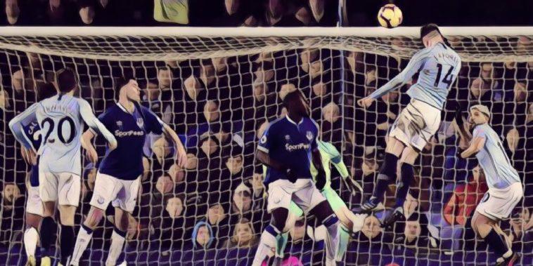 Aymeric laporte scores for Man City against Everton