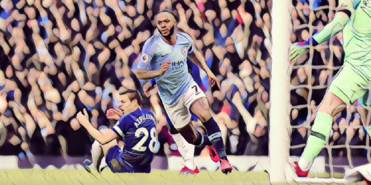 Sterling scores for Man City against Chelsea in 6-0 hammering