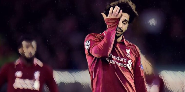 Mo Salah of Liverpool during the 0-0 draw with Bayern Munich, 2019