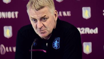 Aston Villa manager Dean Smith