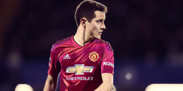 Manchester United midfielder Ander Herrera in 2-0 win over Chelsea