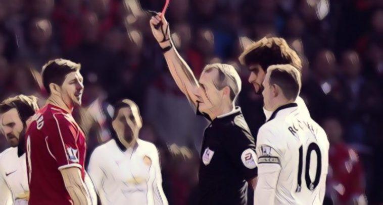 gerrard red card