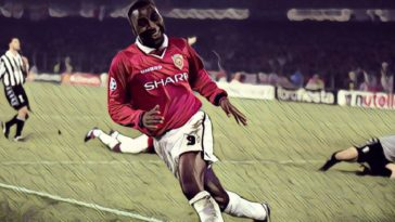 Andy Cole Manchester United Juventus 1999