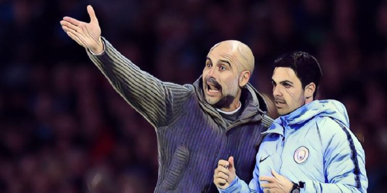 pep guardiola mikel arteta man city