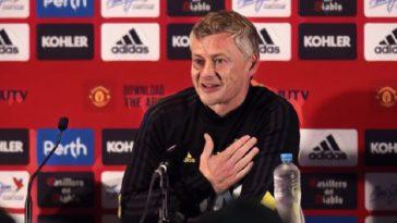 manchester united manager ole gunnar solskjaer press conference