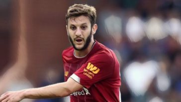Liverpool's Adam Lallana v Bradford in pre-season