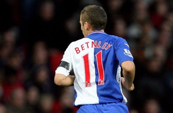 Blackburn's David Bentley misspelled shirt - Betnley