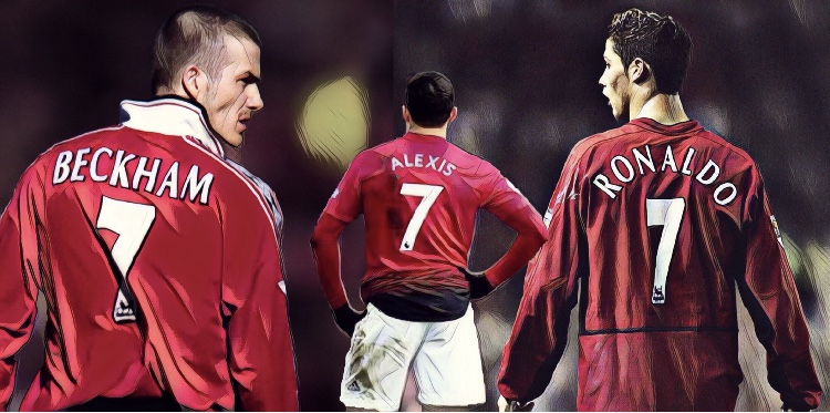 manchester united number 7s