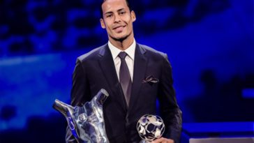virgil van dijk liverpool uefa award