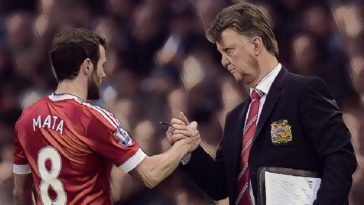 Juan Mata Louis van Gaal manchester united
