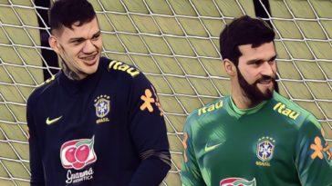 brazil goalkeepers ederson alisson