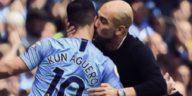 Sergio Aguero Pep Guardiola Manchester City