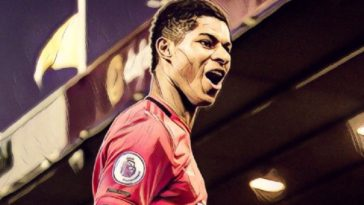 Manchester United's Marcus Rashford finds the net against Norwich