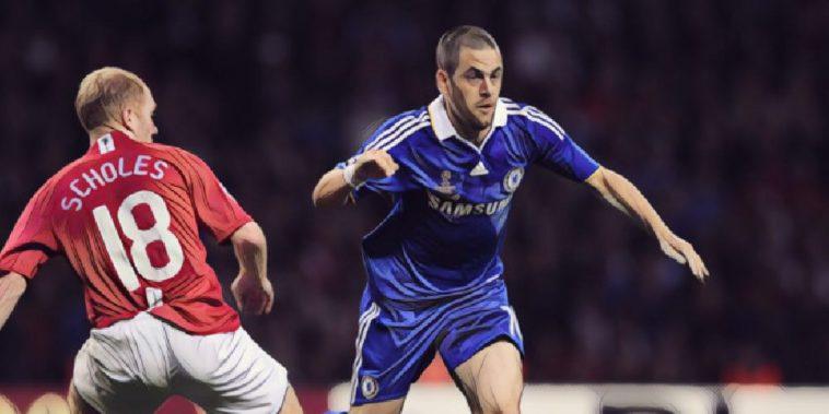joe cole 2008 champions league final chelsea v manchester united