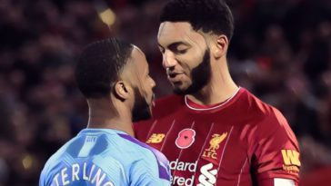 raheem sterling joe gomez man city liverpool