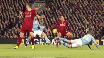 handball liverpool manchester city