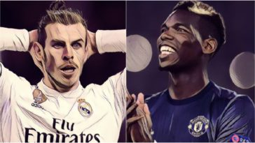 gareth bale paul pogba real madrid manchester united transfer