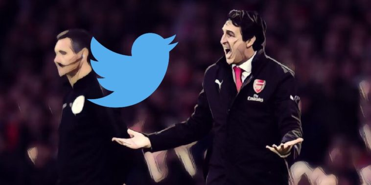 twitter reaction arsenal sacking unai emery