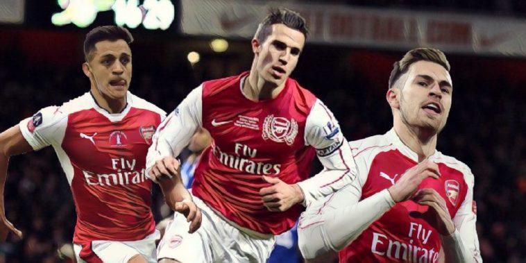 Arsenal van Persie Ramsey and Sanchez