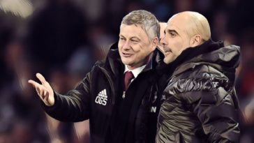 solskjaer guardiola manchester derby premier league