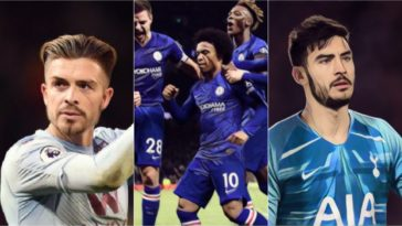 premier league weekly awards willian grealish gazzaniga