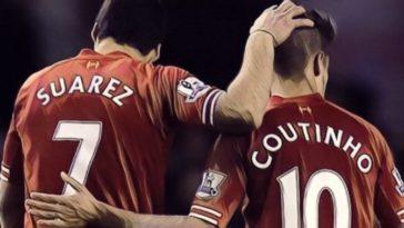 Suarez Coutinho Liverpool