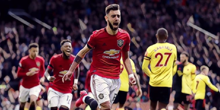 bruno fernandes first goal manchester united