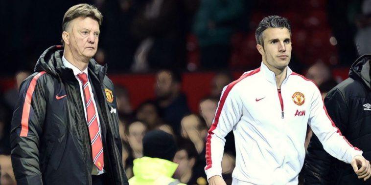 Robin van Persie Louis van Gaal Manchester United
