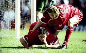 Robbie Fowler Liverpool celebration