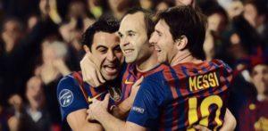 Barcelona Xavi Messi Iniesta