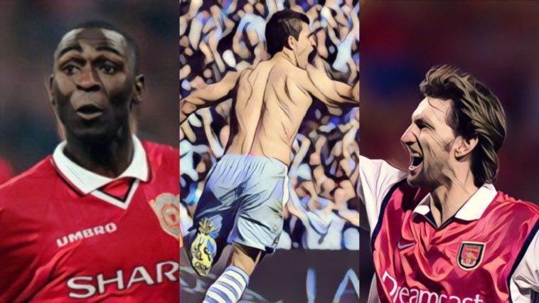 best premier league title winning goals aguero cole adams