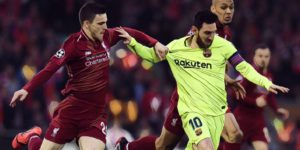andy robertson lionel messi champions league