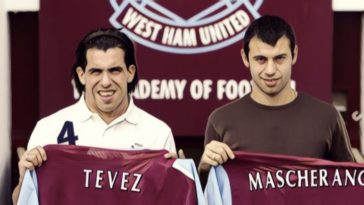 premier league tevez mascherano west ham united
