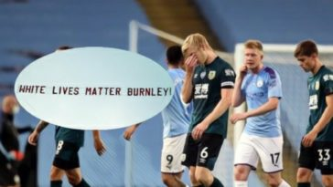 Ben mee burnley white lives matter banner