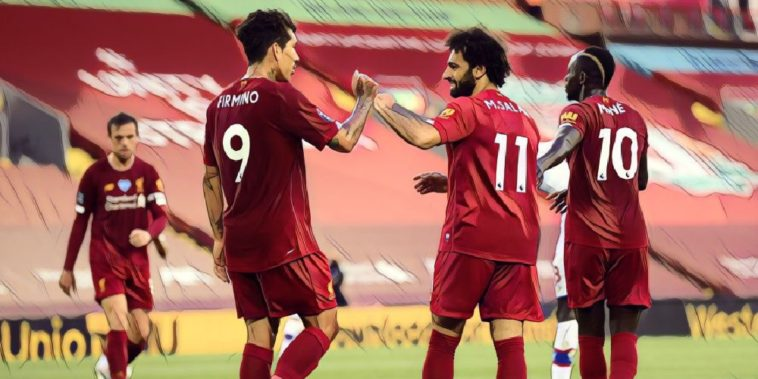 Liverpool's front three, Salah Mane firmino