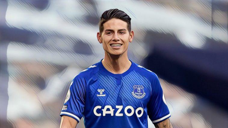 James Rodriguez Everton Premier League