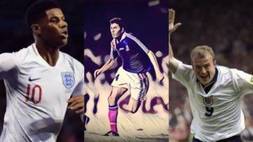 best international football debuts rashford zidane shearer
