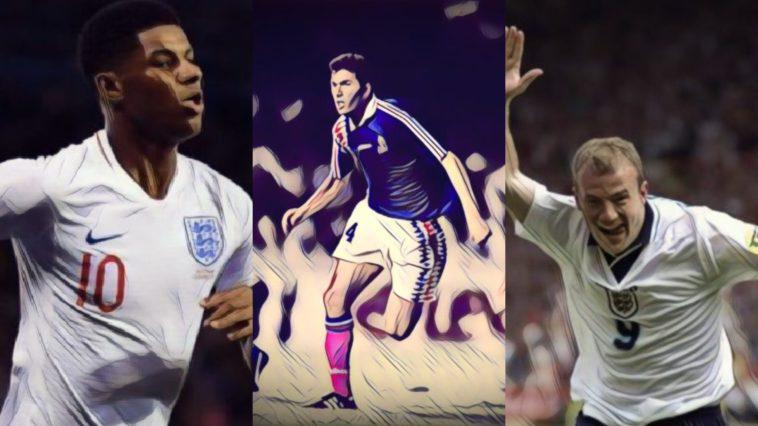 best international football debuts rashford zidane shearer