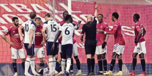 anthony martial red card man united spurs