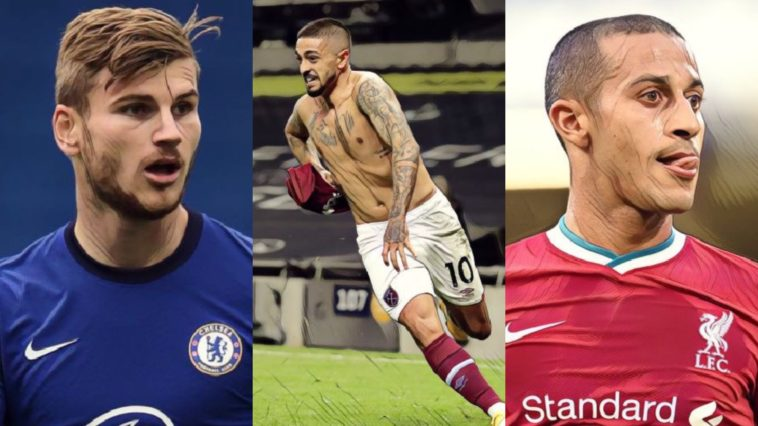 premier league weekly awards lanzini werner thiago west ham chelsea liverpool