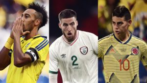 best premier league players not at euro 2020 doherty aubameyang james rodriguez