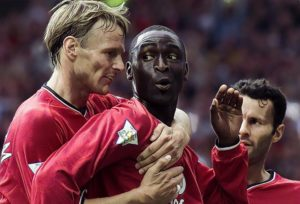andy cole teddy sheringham manchester united premier league