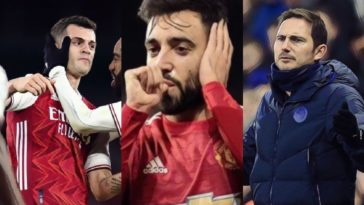 premier league awards bruno fernandes xhaka arsenal lampard chelsea
