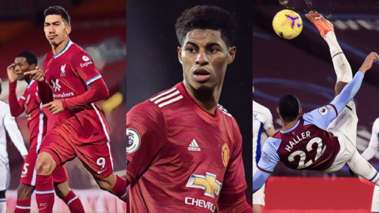 premier league weekly awards rashford firmino haller