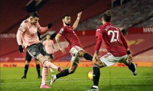 Oli Burke Sheffield United Man Utd Premier League