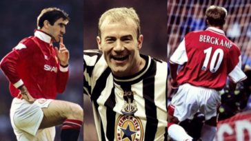 best players 90's premier league shearer cantona bergkamp keane