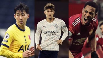 best premier league stats gw17 man city son man united