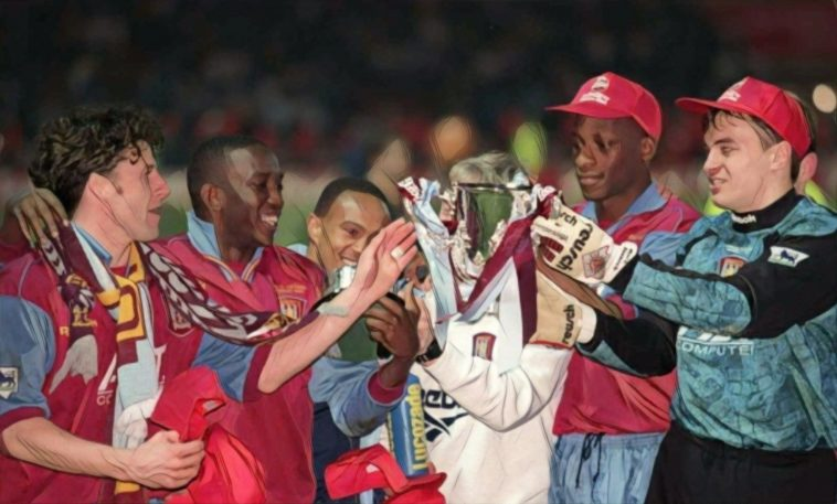 Aston Villa 1996 yorke mcgrath Southgate townsend