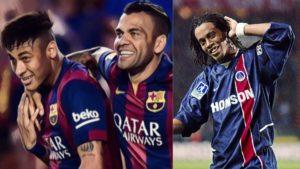 best players to play for barcelona and psg neymar ronaldinho ibrahimovic