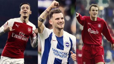 premier league top german assist makers ozil hamman gross ziege sane